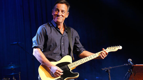 Bruce Springsteen, performing at New York City