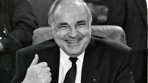 Former German Chancellor Helmut Kohl, as seen in 1989, one year before he oversaw the reunification of his country.
