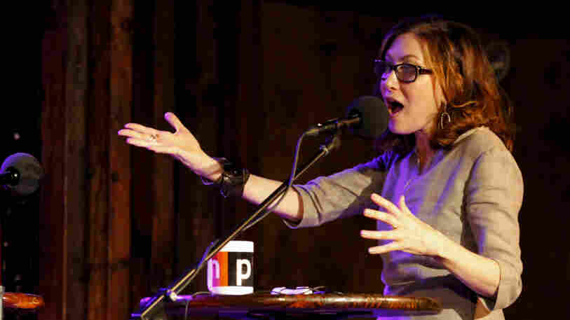 Annabelle Gurwitch on Ask Me Another at the Bell House in Brooklyn, New York.