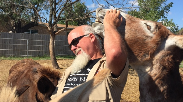 Mark Meyers is the founder of Peaceful Valley Donkey Rescue in San Angelo, Texas. His sanctuaries protect some 3,000 animals, making it the largest donkey defense organization in the world.