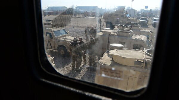 A view on Camp Shaheen, a training facility for the Afghan military in northern Afghanistan.