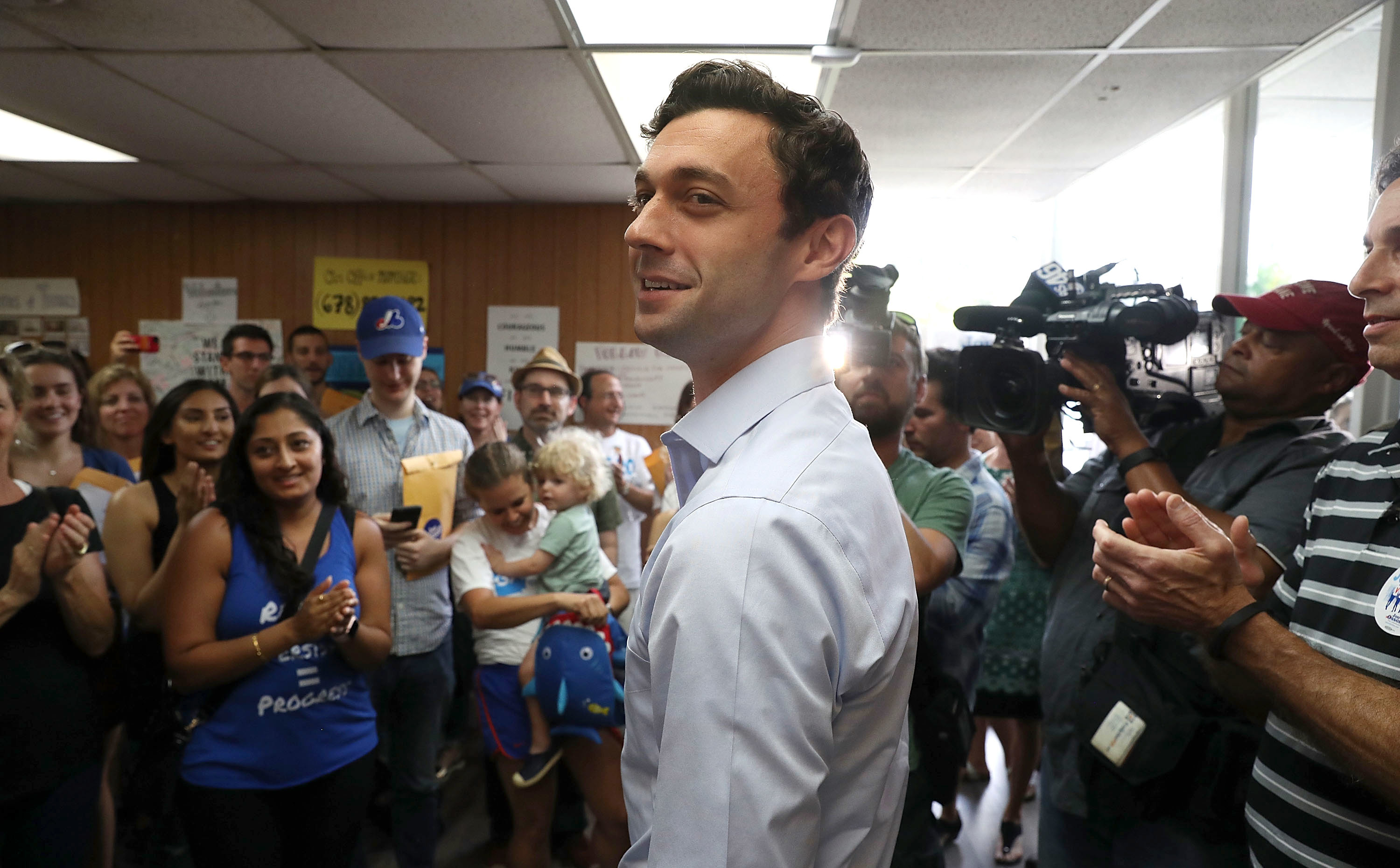Democratic Candidate Jon Ossoff Visits A Campaign Office In Chamblee, Ga,  To Thank Volunteers And Supporters On Monday, As The Special Election For