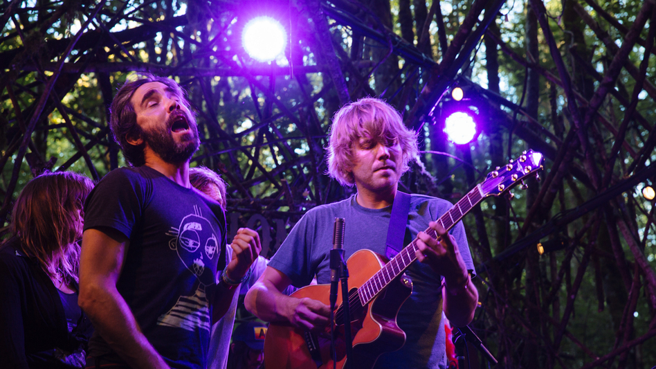 Patrick Watson performing at the intimate Woods Stage at Pickathon 2016.