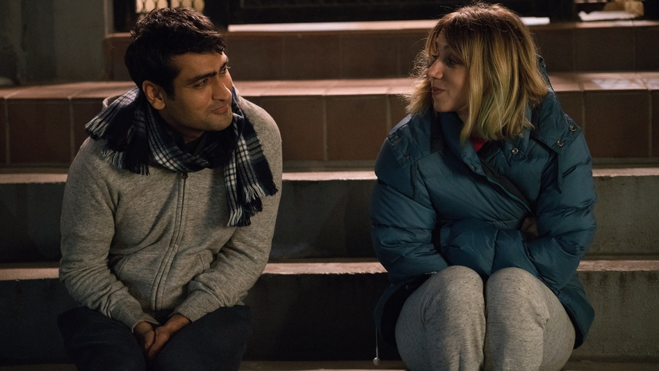 Kumail (Kumail Nanjiani) and Emily (Zoe Kazan) in <em>The Big Sick.</em> (Sarah Shatz/Lionsgate)