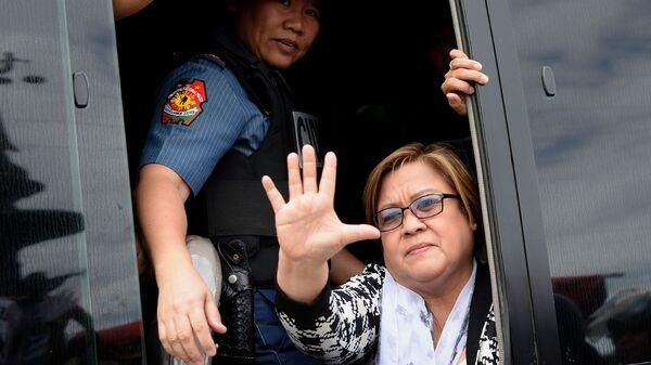 Philippine Sen. Leila de Lima, a former human rights commissioner and one of President Rodrigo Duterte