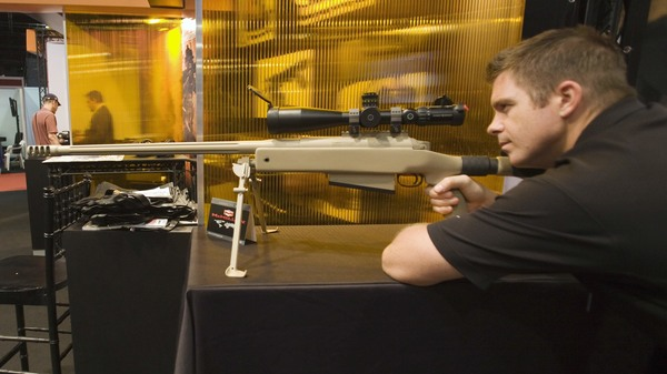 A Canadian sniper made a record-setting shot in Iraq, using a McMillan TAC-50 sniper rifle like the one pictured here, at a trade show in 2010.