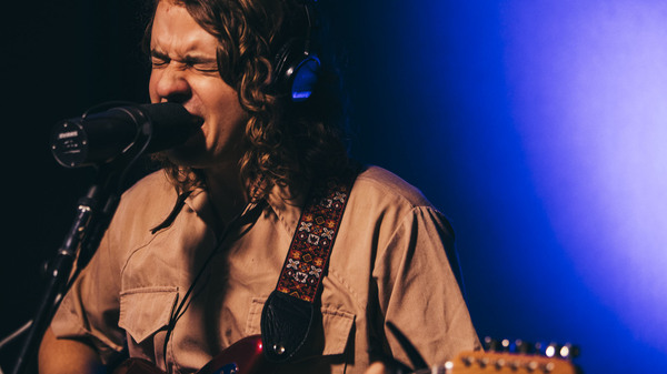 """Kevin Morby performing """"Crybaby"""" live in the studio at KCRW."""