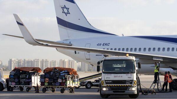 An El Al plane on the tarmac at the Ben Gurion International Airport near Tel Aviv in July 2016.