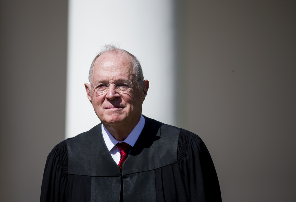 Supreme Court Associate Justice Anthony Kennedy, seen here in 2017, announced his retirement in a letter to the White House on Wednesday. (Eric Thayer/Getty Images)