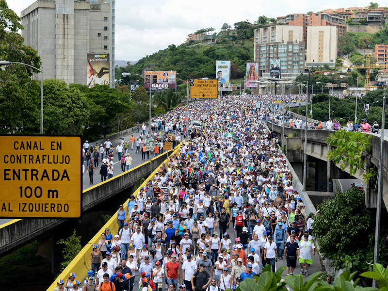 for the venezuelan opposition protests are like a war npr