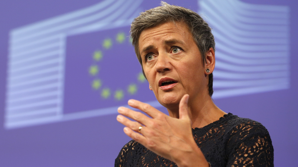 EU antitrust Commissioner Margrethe Vestager, pictured last summer, announced a fine against Google over the way it ranks shopping services in its search results.