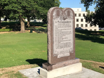 Ten Commandments Installed At Arkansas State Capitol; ACLU Plans Lawsuit