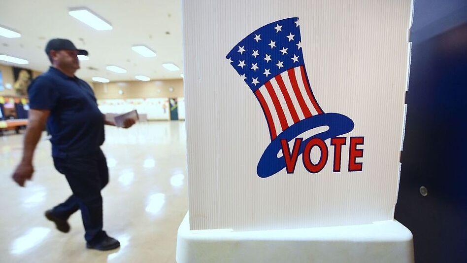 People vote on on November 8, 2016 in Los Angeles. (Frederic J. Brown/AFP/Getty Images)