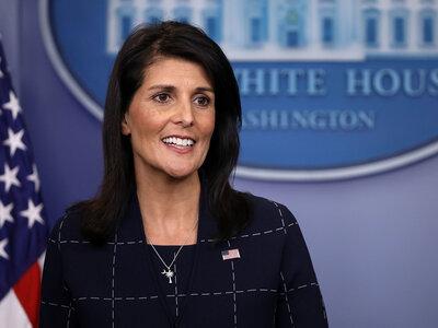 Ethics Group Says U.N. Ambassador Nikki Haley's Retweet Violated A Federal Law