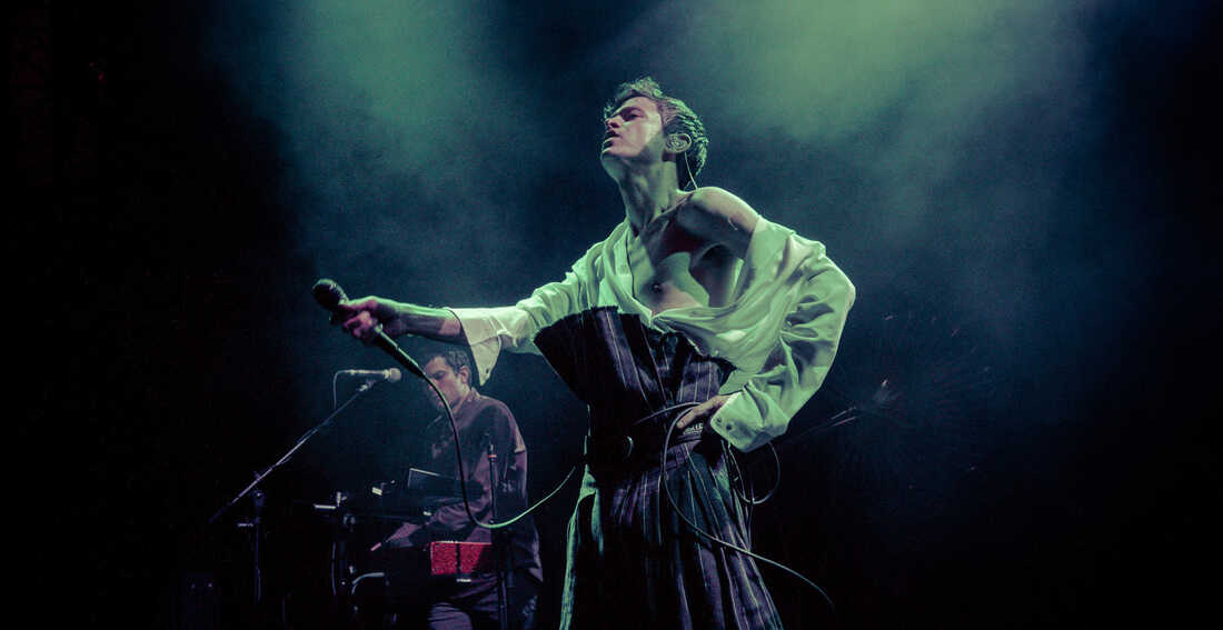 Perfume Genius performs songs from the album No Shape at the 9:30 Club in Washington, D.C.