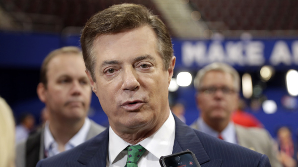 Former Trump campaign chairman Paul Manafort had resigned his position last August after his work for Ukrainian interests came under scrutiny.