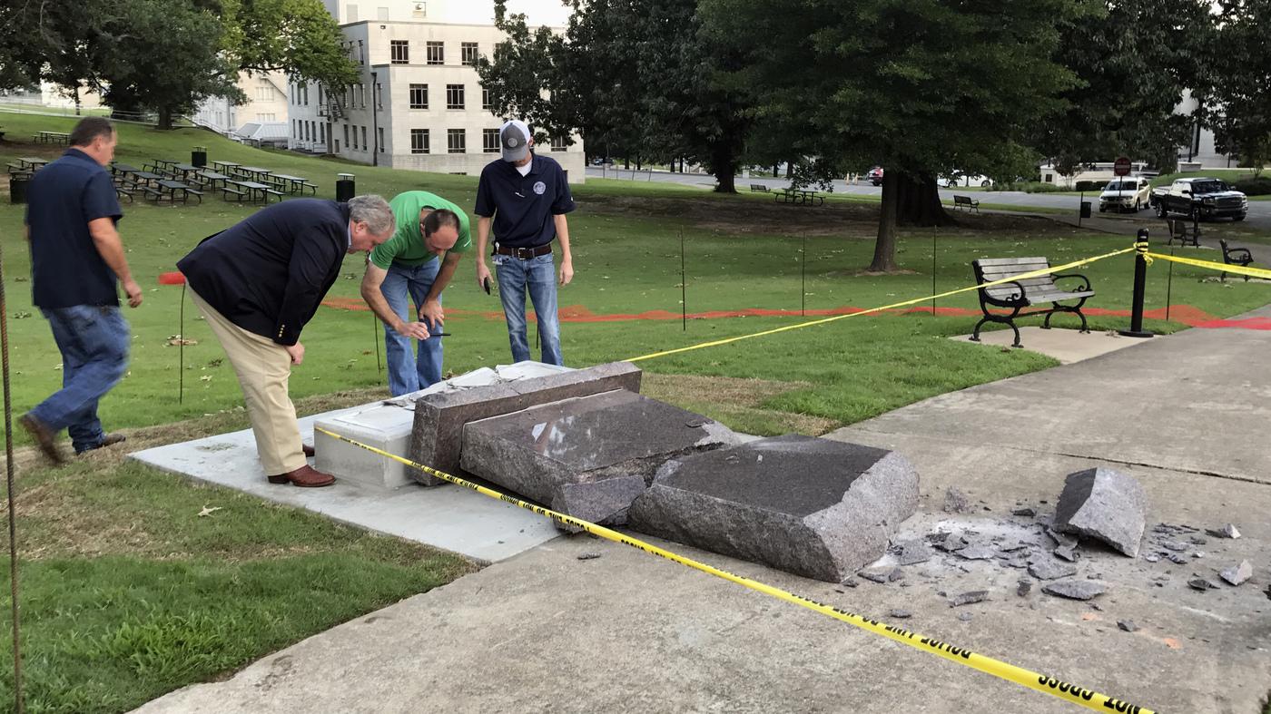 a9ad6e59865 mlive.com Arkansas  Ten Commandments Monument Lasted Less Than 24 Hours    The Two-Way   NPR