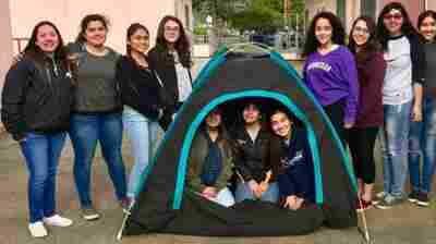 All-Girls Teen Engineering Team Creates A Solar-Powered Tent For Homeless People