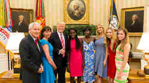 Chibok Girls And Trump Appear In Unannounced Photo Op