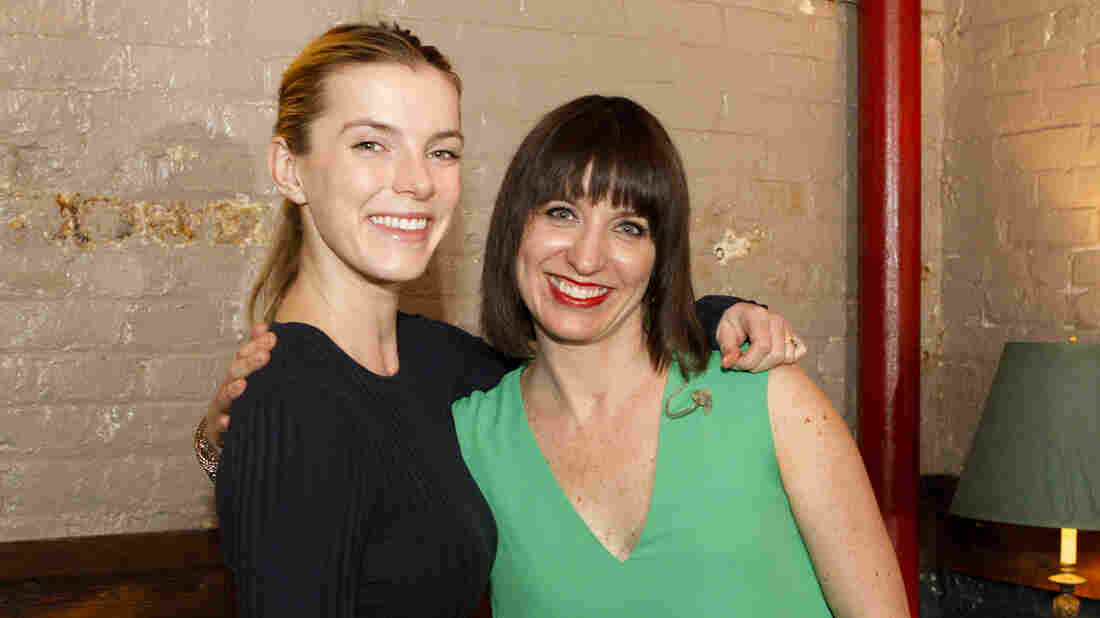 Betty Gilpin with Ophira Eisenberg on Ask Me Another at the Bell House in Brooklyn, New York.
