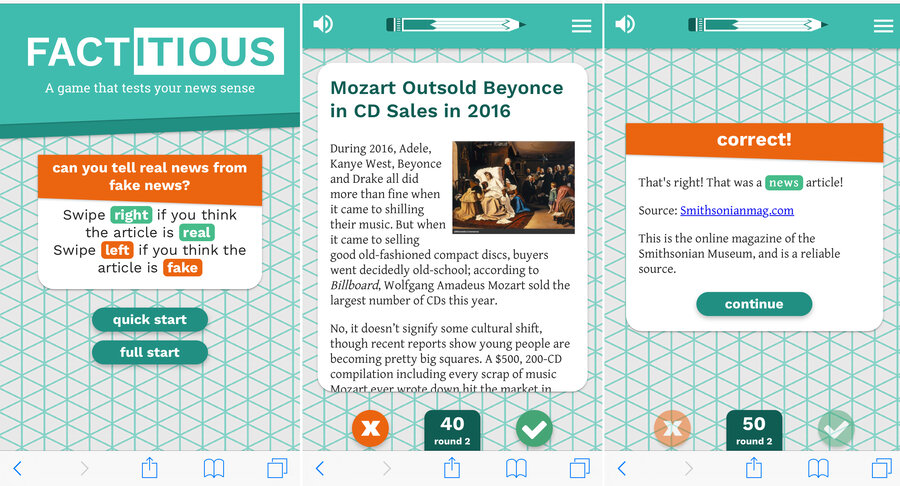 Factitious: The Fame News Game
