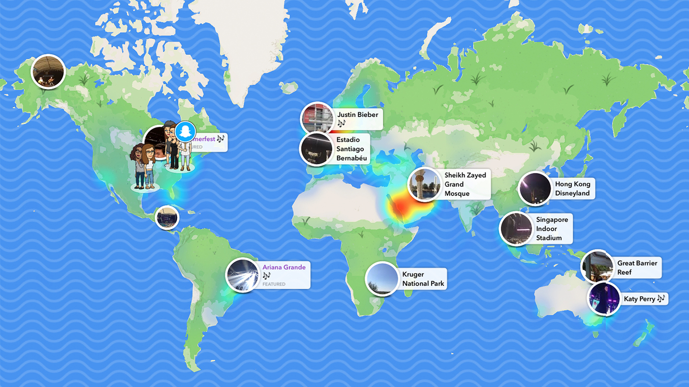 Disneyland Locations World Map.Can Snapchat S New Snap Map Bring The World Closer Together