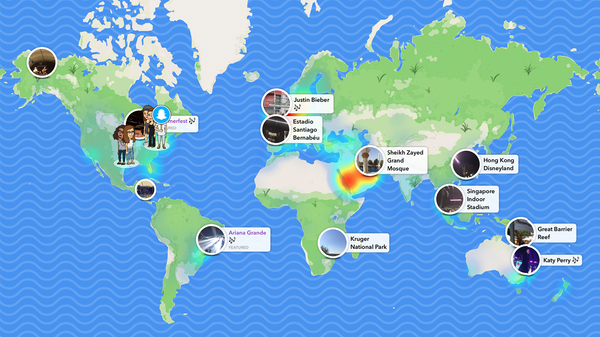Snapchat users can upload photos and videos onto the new Snap Map. When a topic is trending, it