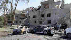 Several Killed In Damascus Car Bombings Despite Authorities 'Foiling' Part Of Plot