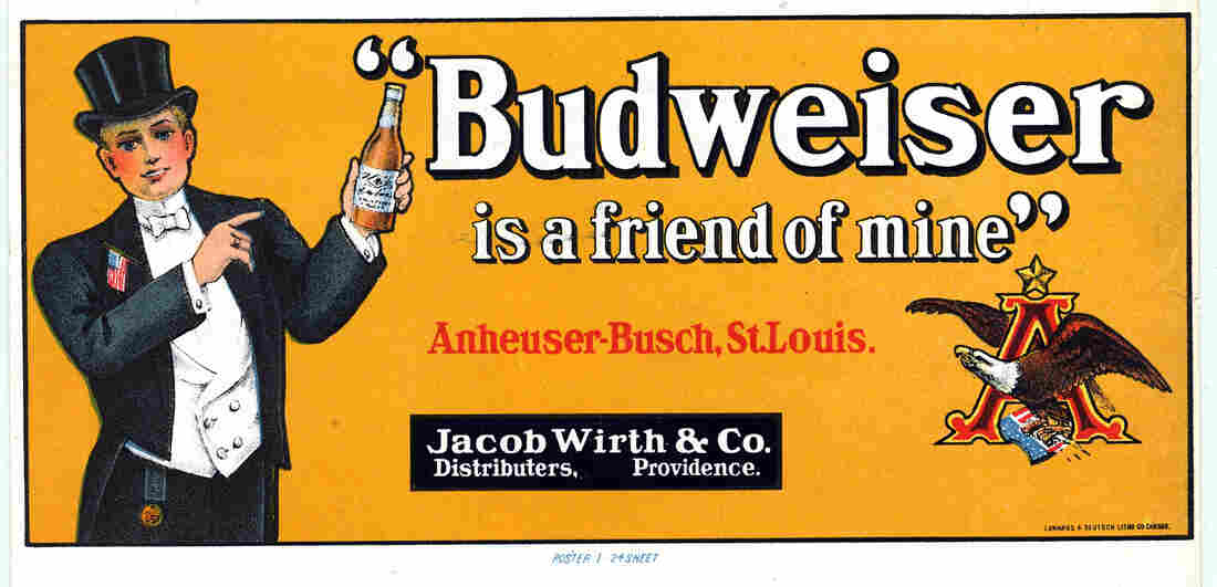An advertisement for Budweiser beer, Anheuser-Busch, St. Louis, Mo.