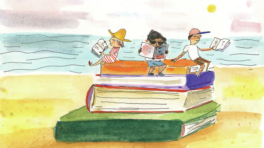 Rezultat iskanja slik za summer reading illustration