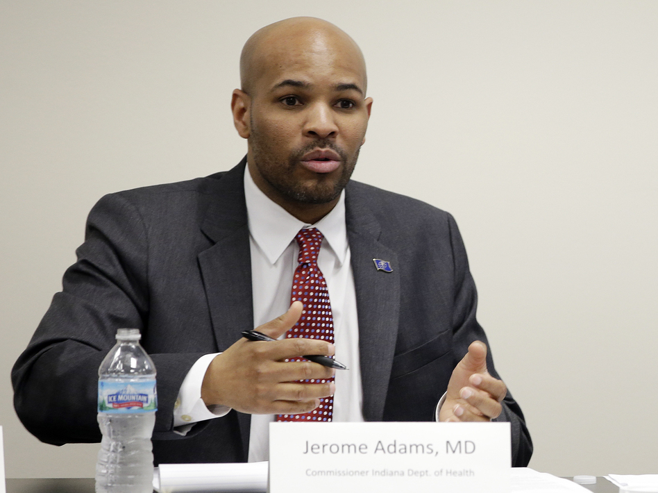 Indiana State Health Commissioner Dr. Jerome Adams is President Trump's nominee for U.S. Surgeon General. (Darron Cummings/AP)