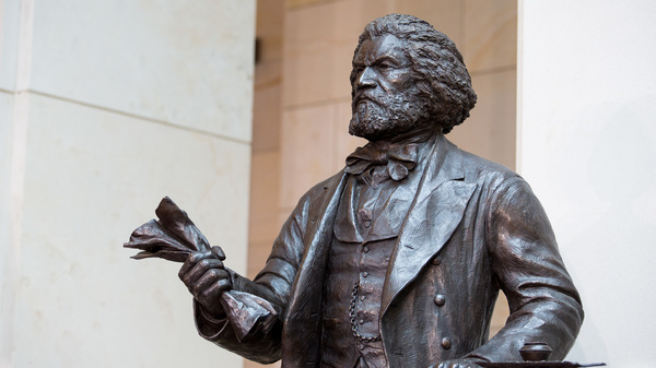 The Frederick Douglass Statue in Emancipation Hall at the U.S. Capitol in 2013. On July 3, the National Archives hosted a reading of Douglass