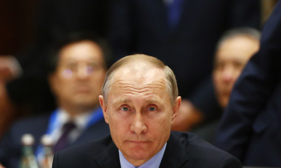 Russian President Vladimir Putin attends a summit at the Belt and Road Forum on May 15 in Beijing. (Getty Images)