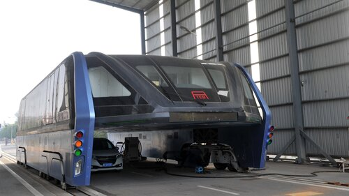 China's Elevated Bus Project Seemed Too Good To Be True — And It Was