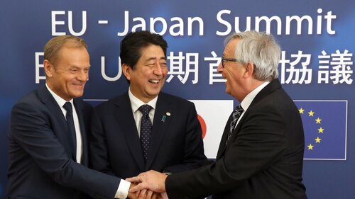 EU And Japan Strike Trade Deal, Call It 'Strong Message To The World'