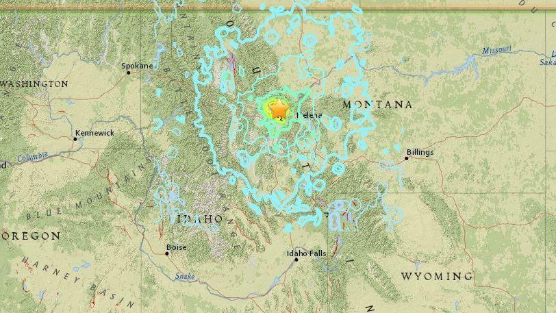 Montana Earthquake Is Felt For Hundreds Of Miles Early Thursday - Map of western montana