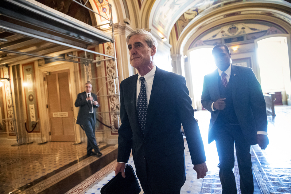 Special counsel Robert Mueller departs after a June 21 closed-door meeting with members of the Senate Judiciary Committee about Russian meddling in the 2016 election and possible connections to the Trump campaign. (J. Scott Applewhite/AP)
