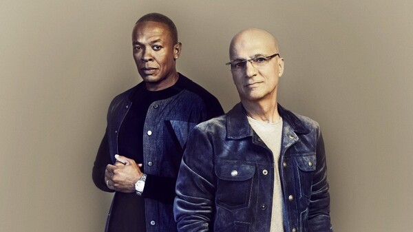 Dr. Dre and Jimmy Iovine, the subjects of The Defiant Ones.