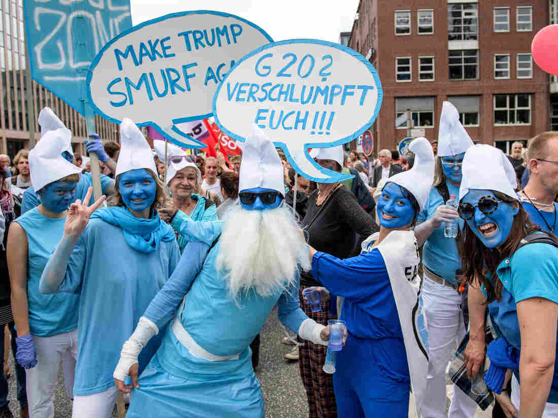 G-20 Hamburg: Tens Of Thousands Demonstrate On Summit's Last Day