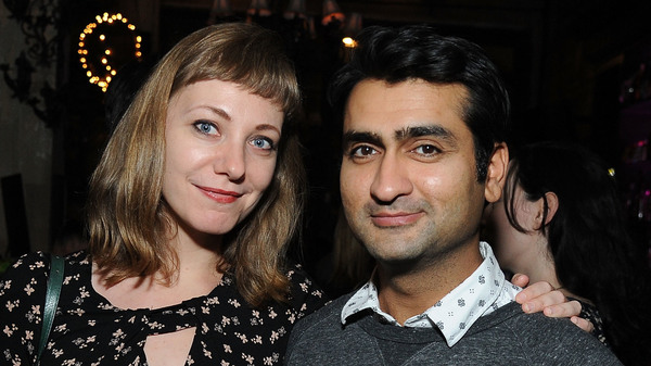 Married couple Emily V. Gordon and Kumail Nanjiani co-wrote the romantic comedy The Big Sick, which is based on their own love story.