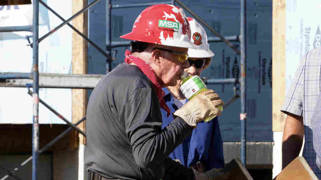 Jimmy Carter on site