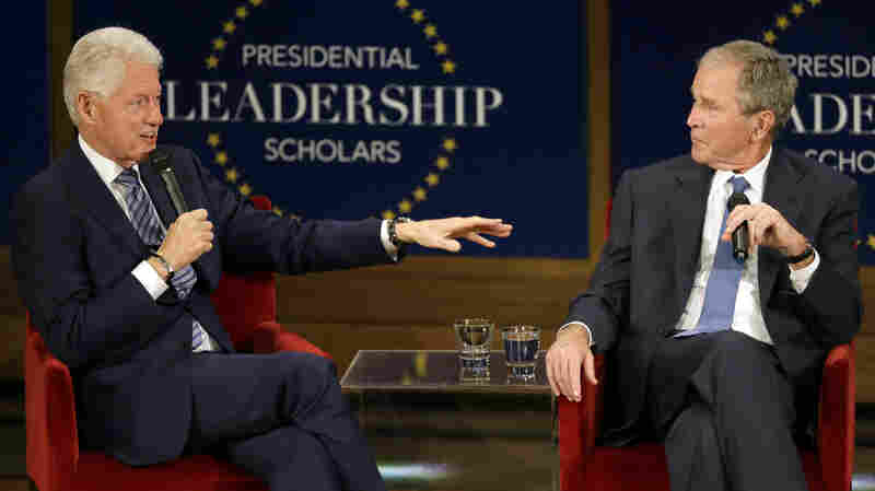 Bill Clinton And George W. Bush Bond In Conversation About Leadership