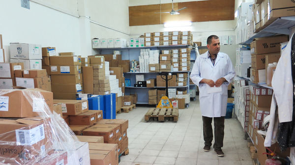 Nael Skaik, the pharmacy director at Gaza