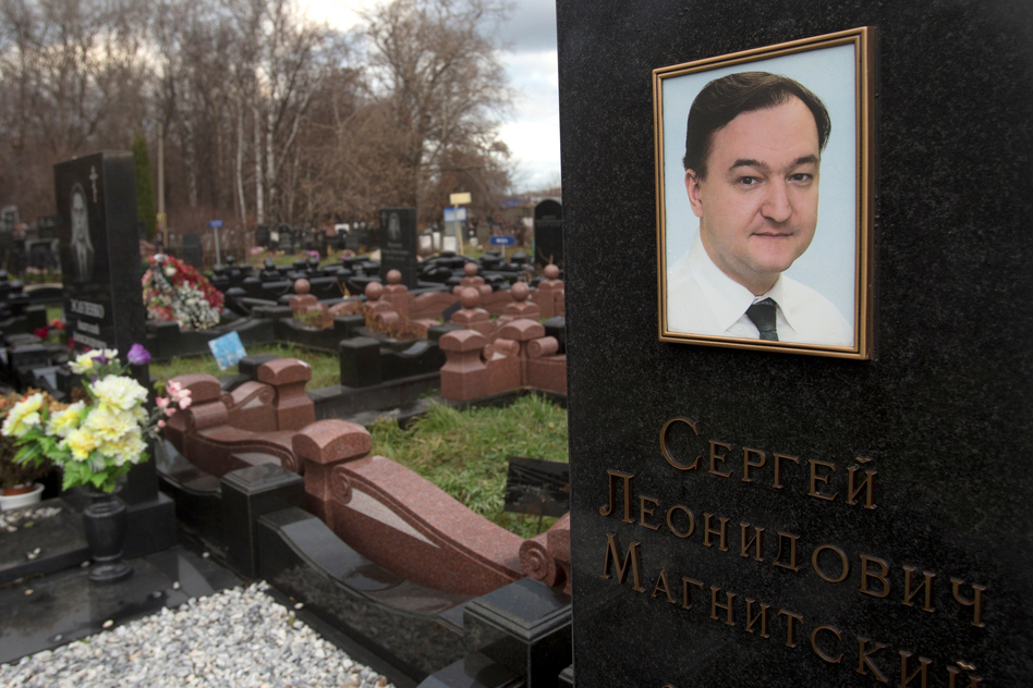 The U.S. law followed the death of lawyer Sergei Magnitsky who died in a Moscow prison in 2009 after accusing Russian officials of tax fraud. (Misha Japaridze/AP)