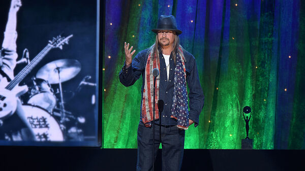 Kid Rock at the 2016 Rock And Roll Hall Of Fame Induction Ceremony in New York City. Rock says he plans to run for Senate as a Republican in Michigan.