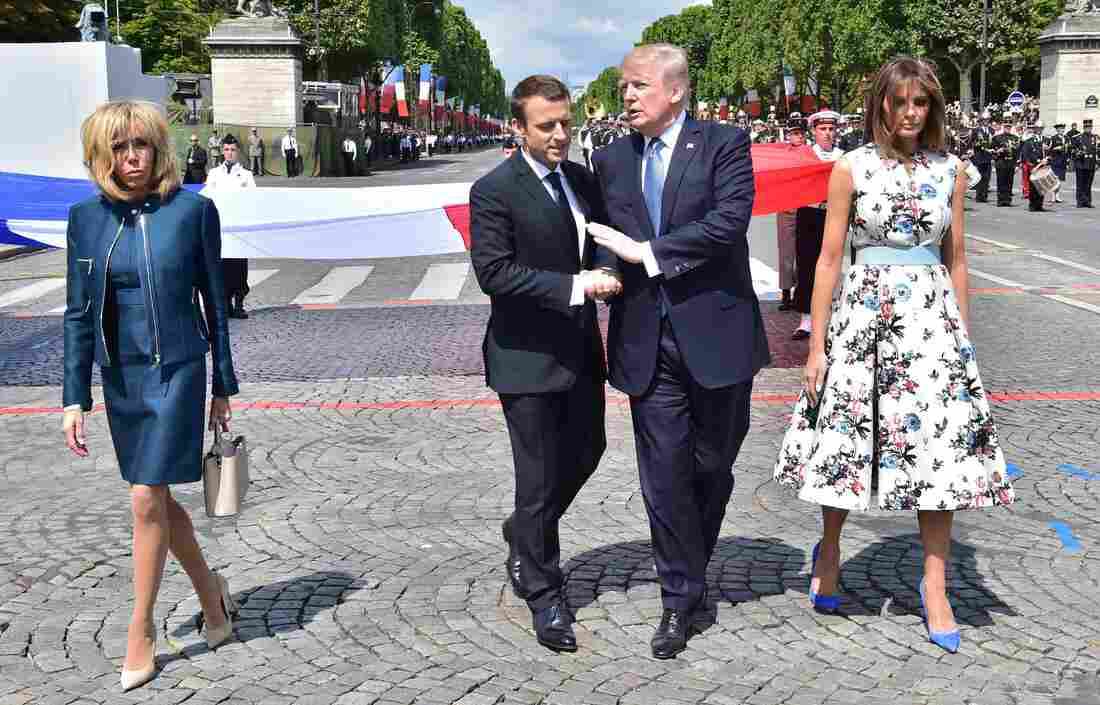 Macron's Strategy For Trump In Paris: Long Handshakes And Military Spectacles – NPR