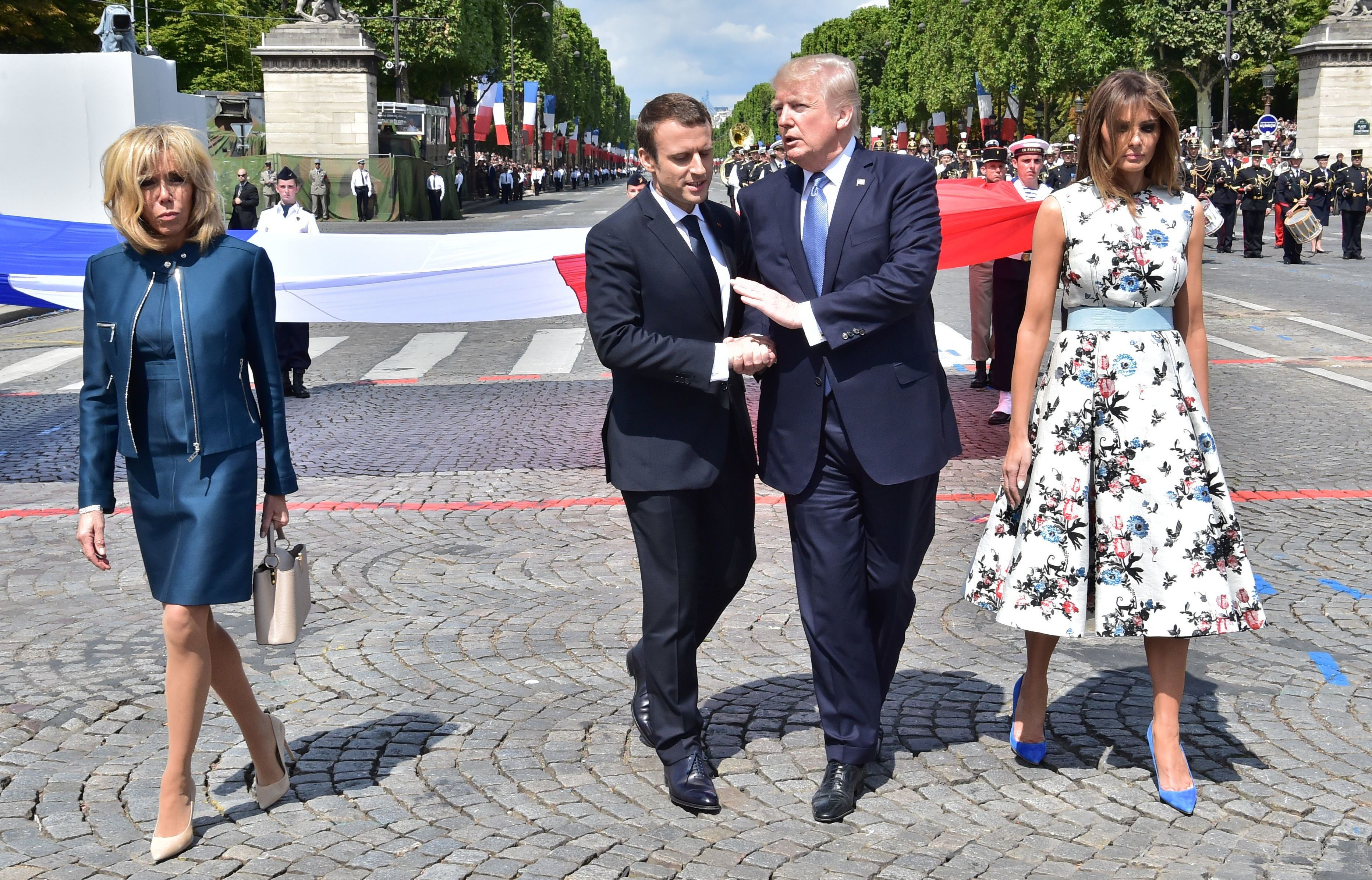 Macron S Strategy For Trump In Paris Long Handshakes And Military Spectacles The Two Way Npr
