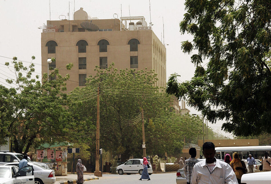 The new instructions affect people applying for visas at U.S. embassies and consulates in six Muslim-majority countries, including the U.S. Embassy in Khartoum, Sudan, shown here in 2009.
