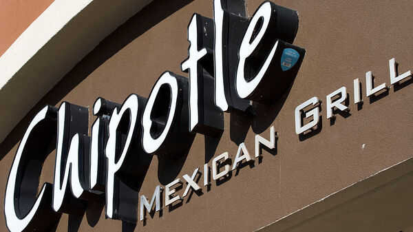 A Chipotle restaurant in Sterling, Va., was temporarily closed. This sign is from a location in Fairfax, Va.