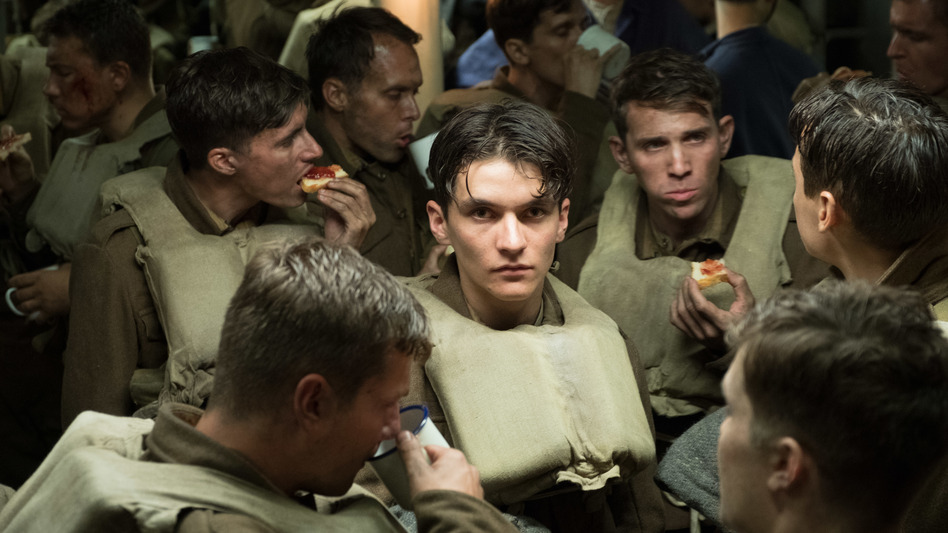 Tommy (Fionn Whitehead), a British soldier desperate to escape the beaches of <em>Dunkirk</em>, is safe — for now. (Melinda Sue Gordon/Warner Bros. )